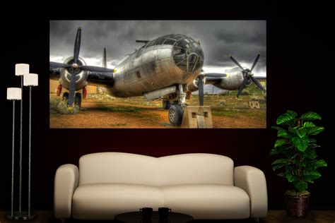 airplane home decor propeller airplane photo colorful wall art home decor canvas