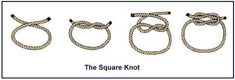 How To Tie A Square Knot Step By Step - square knot loomahat