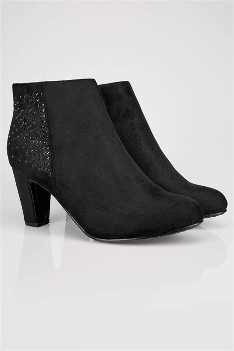 Boots Gift Card Balance Check - black embellished heeled ankle boots in true eee fit