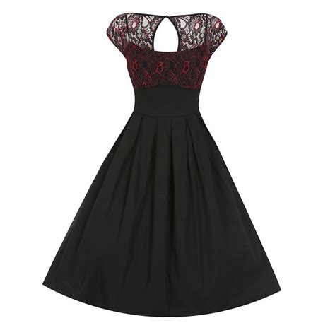 red swing dress vintage verona black red lace swing dress vintage style dresses