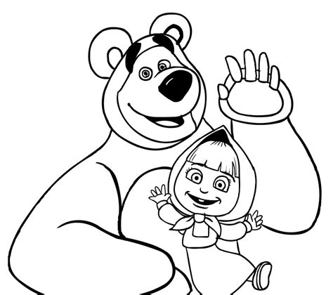 coloring pages masha and bear masha and the bear coloring page