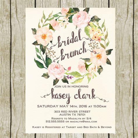 free printable bridal shower brunch invitations bridal shower brunch invitation printable floral bridal