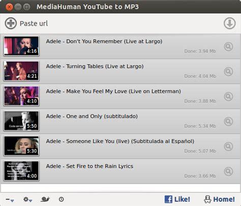how to download mp3 from youtube in ubuntu de youtube a mp3 con mediahuman desde el centro de