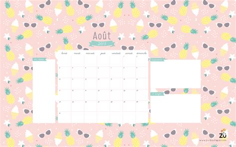 Calendrier 7 Aout 2015 Z 252 Calendrier Diy Juillet Ao 219 T 2015