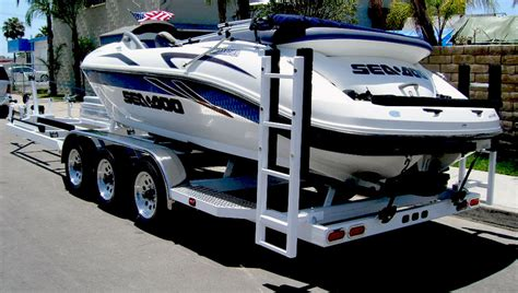 seadoo boat combo combination boat and watercraft trailer shadow trailers