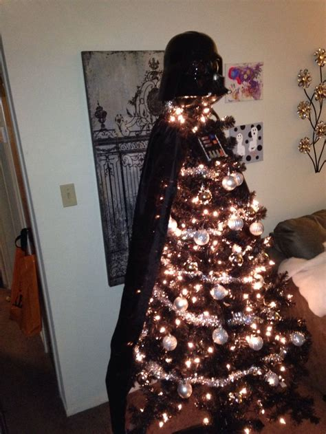 darth vader christmas tree star warsss pinterest