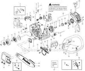 poulan p3818av parts list and diagram type 2