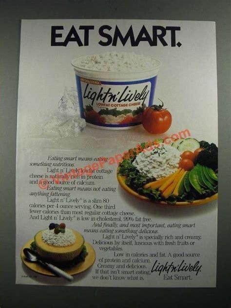 light n lively cottage cheese 1987 kraft light n lively cottage cheese ad eat smart