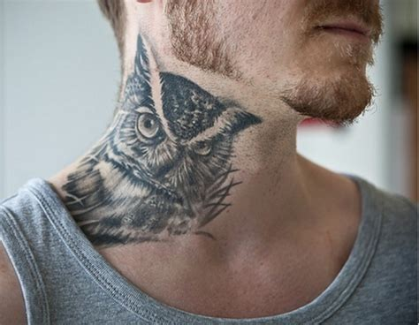 tattoo owl neck owl tattoos best of the best lazer horse
