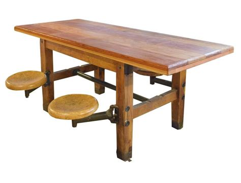 swing dining table table with swing arm seats at 1stdibs