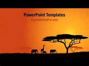 africa powerpoint template background powerpoint template backgrounds