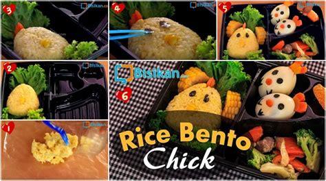 alat membuat nasi kuning tutorial nasi bento dekorasi ayam yang unik lucu dan menarik