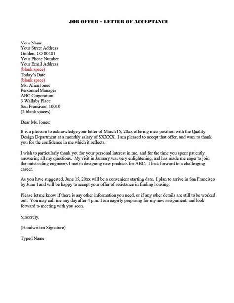 job offer thank you letter template 7 free word pdf format