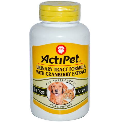 cranberry pills for dogs actipet urinary tract formula with cranberry extract for dogs cats 67 5 g powder