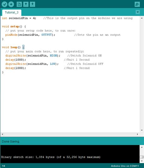 arduino code how to controlling a solenoid valve with arduino bc robotics