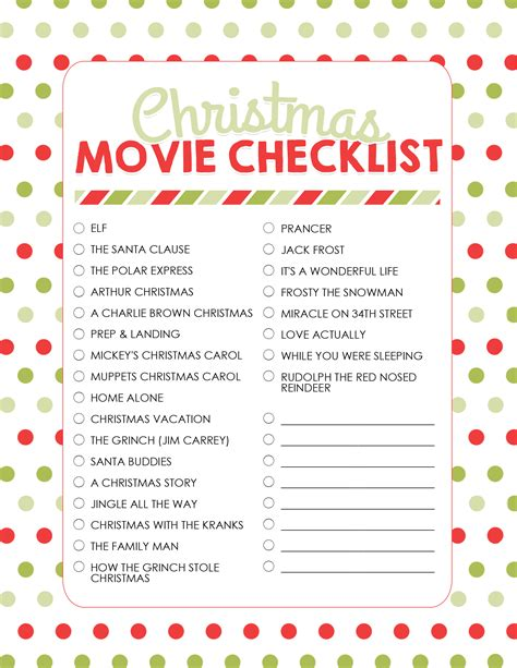 printable christmas planning checklist how to plan a christmas movie night with free printables