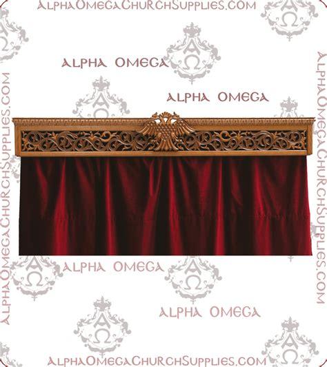 curtain rod cover fabric alpha omega church supplies orthodox ecclesiastical art