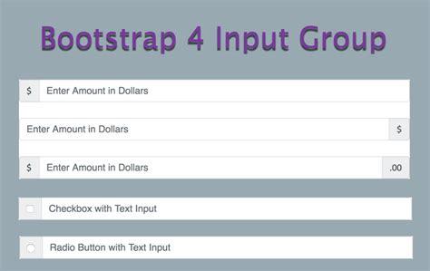 tutorial bootstrap 4 bootstrap 4 input group tutorial 187 webnots