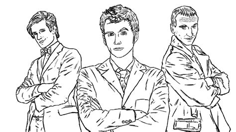 coloring pages of dr who doctor who line wip by manlikeyeti on deviantart
