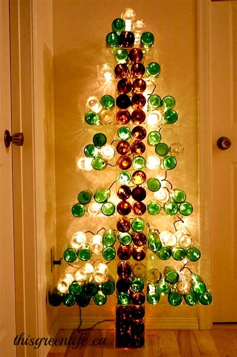 beer bottle christmas tree this green life