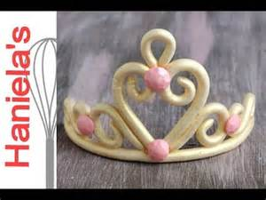 how to make princess tiara from gumpaste youtube