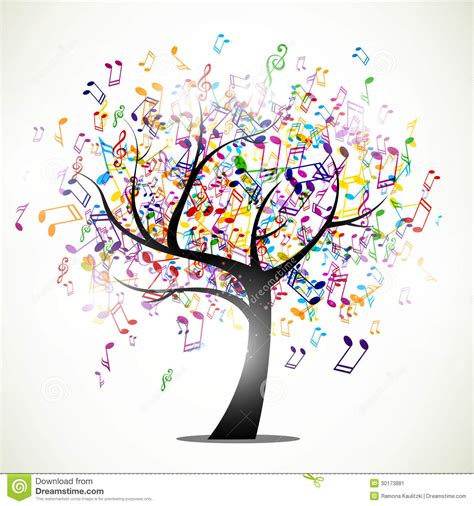 musical tree colorful desktop clipart clipart suggest