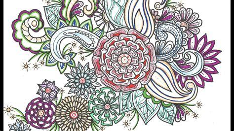 Motif Flower simple flower motif zen doodle lovering