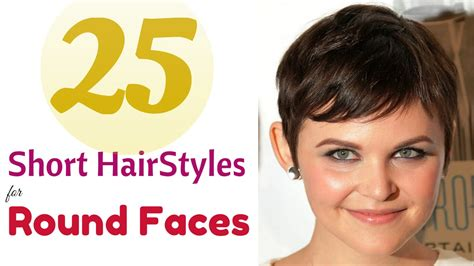 top 25 short hairstyles for round faces 2015 youtube