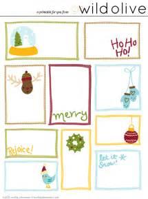 wild olive print christmas gift tags