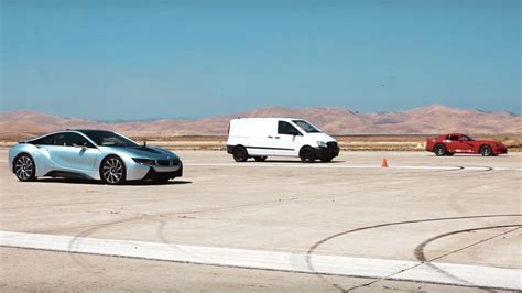 bmw van 2016 watch this electric van obliterate the viper and i8 in a