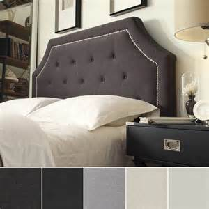 Black And White Headboard Best Upholstered Headboards From Overstock Curio Design Studio