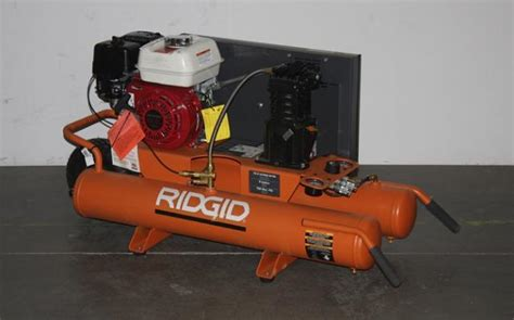 ridgid gas 9 gallon portable wheelbarrow air compressor gp90150 ebay