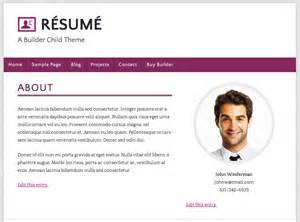 Personal Website Resume Examples How To Build A Wordpress R 233 Sum 233 Site Using Ithemes Builder