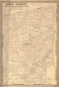 map of hunt county map of hunt county tx c1873 repro 15x22