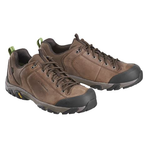 walking shoes kathmandu strowan mens leather vibram sole waterproof