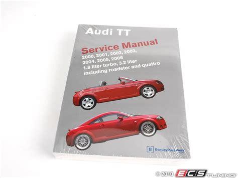 service and repair manuals 2002 audi tt security system ecs news audi mki tt 180 bentley service manual