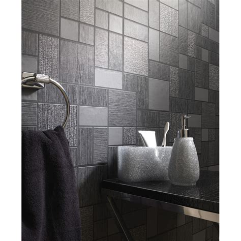vinyl bathroom wallpaper holden d 233 cor tile pattern glitter motif kitchen bathroom