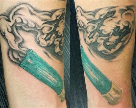 shotgun shell tattoo shotgun shell and smoke initials mods