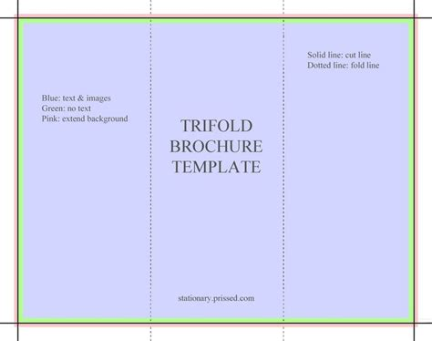 Brochure Templates Free For Word by Blank Tri Fold Brochure Template Word Blank Brochure