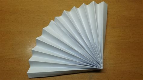Paper Fan Origami - how to make a paper fan origami