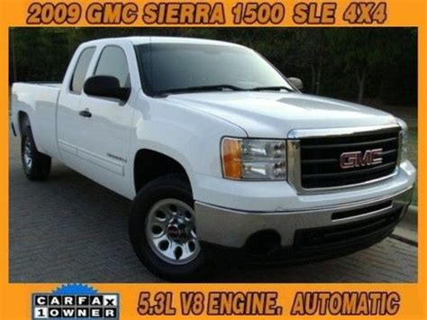 sle carfax report sell used 2009 gmc 1500 sle 4x4 one owner hwy