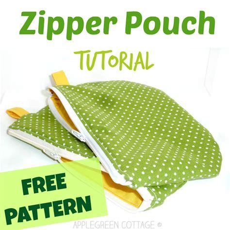 zippered pouch pattern free zipper pouch tutorial applegreen cottage