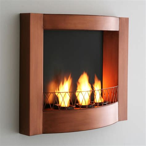 sei copper wall mountable gel fuel fireplace