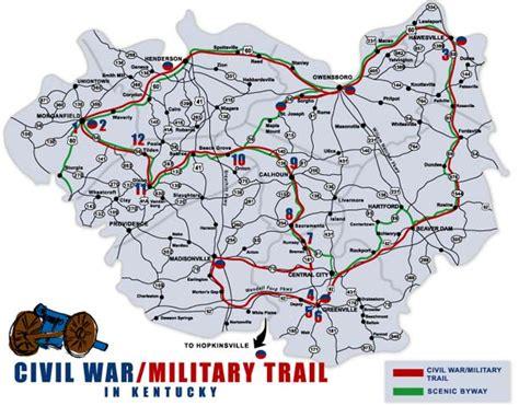 kentucky map civil war civil war trail in kentucky