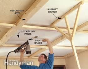 Making Wainscoting Ceiling Panels How To Install A Beam And Panel Ceiling