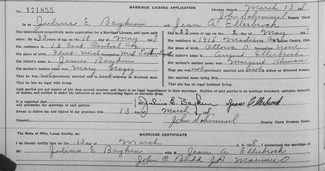 Columbus Ohio Marriage Records Genealogy Data Page 78 Notes Pages