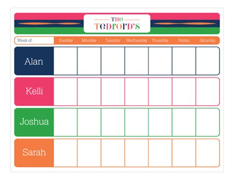 Shower Hostess Gifts by Color Block Weekly Calendar Pad Polka Dot Invitations