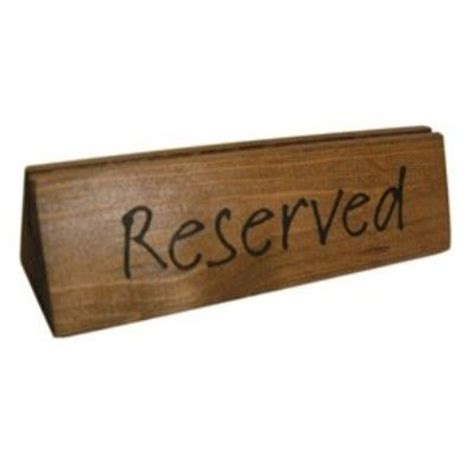 wooden reserved table signs 34 best images about menu holders on oak