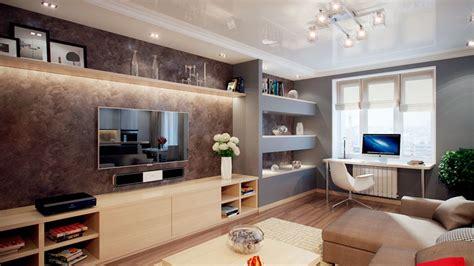 Дизайн стенки с телевизором фото