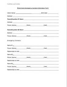 child care registration form template free daycare forms pudink daycare